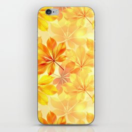 Autumn leaves #11 iPhone Skin