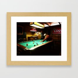 Standing by the pool Framed Art Print