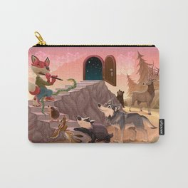 Music to go beyond the fear. Fox is playing the flute.  Carry-All Pouch