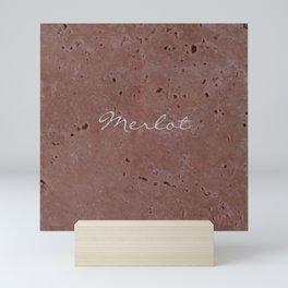 Merlot Wine Red Travertine - Rustic - Rustic Glam Mini Art Print