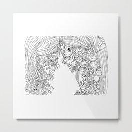 Sisters Side By Side Metal Print