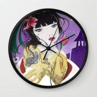 mulan Wall Clocks featuring Mulan by marmaseo