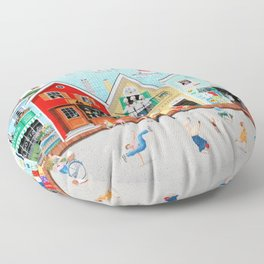 The Singing Bakers Floor Pillow