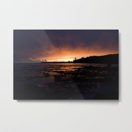 jjhelene Sunset at Lake Erie, Fort Erie, Ontario Canada Metal Print