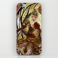 safari iPhone & iPod Skins featuring Safari by Bea González