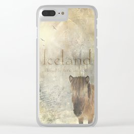 Iceland, forged by fire and ice Clear iPhone Case