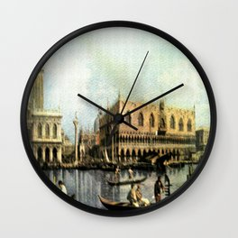 Return of the Bucintoro to the Molo on Ascension Day (Painted in 1729) Wall Clock