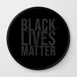 Black Lives Matter grey Wall Clock