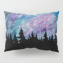 Galaxies and Trees Pillow Sham