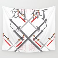sword Wall Tapestries featuring China Sword by Littlebell