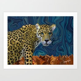 Leopard with the Sky in His Eyes Art Print