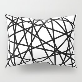 Lazer Dance Black on White Pillow Sham