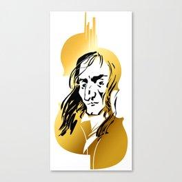 Niccolo Paganini and golden violin Canvas Print