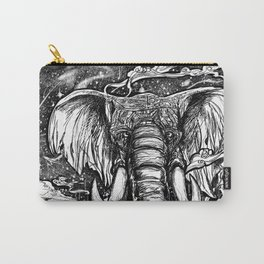 Elephant March Under the Stars Carry-All Pouch