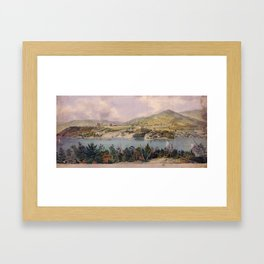 Panorama of West Point from Constitution Island by John Rubens Smith (c 1820) Framed Art Print