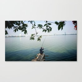 West Lake Fisherman III Canvas Print