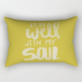 It Is Well With My Soul x Mustard Rectangular Pillow