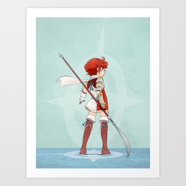 Little Lancer Art Print