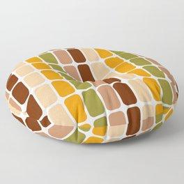 Retro 70s oval capsules brown orange moss green Floor Pillow