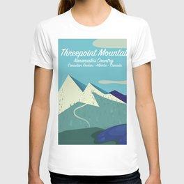 Threepoint Mountain Canada travel poster. T-shirt