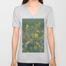 yellow buttercups Unisex V-Neck