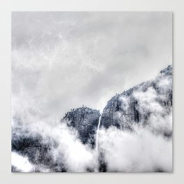 Fog and clouds Canvas Print