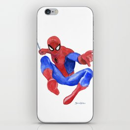 Spider-man Watercolor Painting iPhone Skin