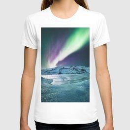 aurora in iceland T-shirt