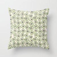 kiwi Throw Pillows featuring Kiwi by Valendji