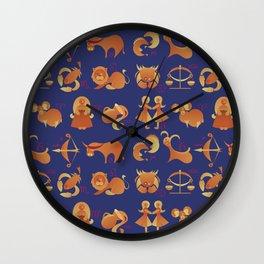 Zodiac signs set Wall Clock