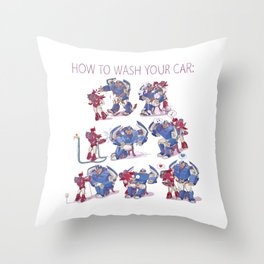 How to wash your car Throw Pillow