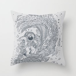 I only surf on Comets Throw Pillow