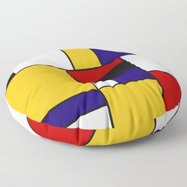 Mondrian De Stijl Art Movement Floor Pillow