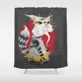 PAW MEI - The Wise Cat Shower Curtain