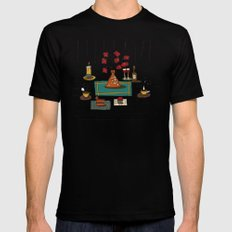 we have a map of  Black Mens Fitted Tee MEDIUM