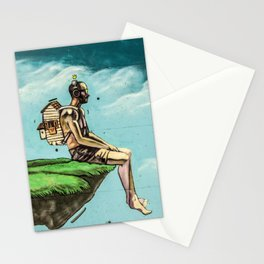 Man on the rock 5 Stationery Cards
