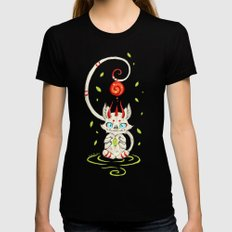 Little Monster 2 LARGE Black Womens Fitted Tee
