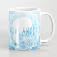 balance Mugs featuring Balance by Sara Eshak