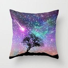 Space tree Throw Pillow
