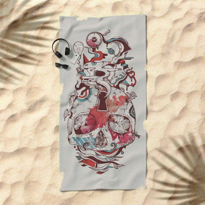 Landscape of an Open Mind Beach Towel