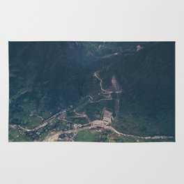 Mountainous town, Sa Pa, Vietnam Rug