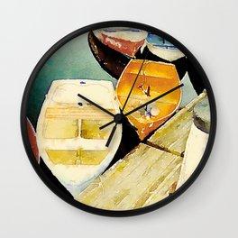 Rockport, MA Dories Wall Clock