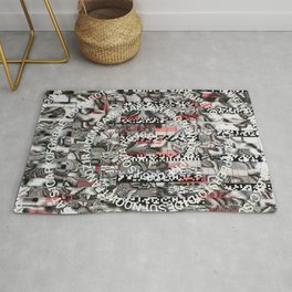 Creating Circumstances 4 Error 2 Fill the System with Meaning (P/D3 Glitch Collage Studies) Rug