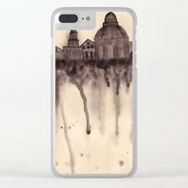 Grieving City Clear iPhone Case