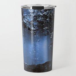 Blue Floating Sun Travel Mug