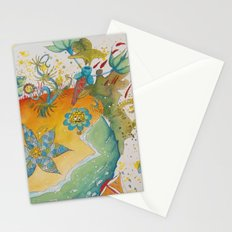 the beach  planet Stationery Cards
