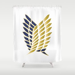 Wings Of Freedom - Gold Edition (Premium) Shower Curtain