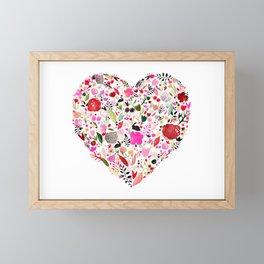 heart bloom Framed Mini Art Print