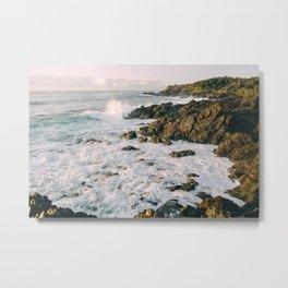 The Sea Rocks Metal Print