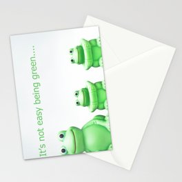 Its not easy being green Stationery Cards